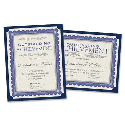 "Southworth Linen Certificate Holder - Letter - 8.50"" X 11"" - Linen - Navy Blue - 10 / Pack (PF8)"