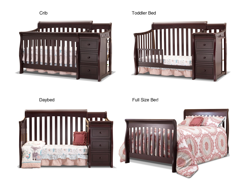 Sorelle 228 Princeton Elite Full Size Conversion Kit Crib And