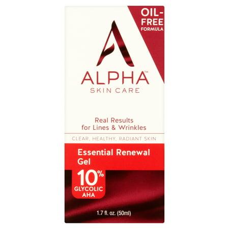 alpha skin care - essential renewal gel 10% glycolic aha for healthy, younger-looking skin - 1.7 (Alpha Hydrox Aha Souffle 12 Glycolic Aha)