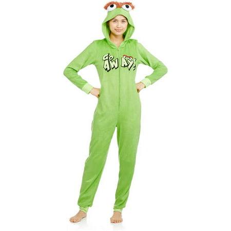 385e24d0871e Sesame Street - Go Away Oscar the Grouch Pajama PJ Sleepwear Onesie Sleep  Green - Walmart.com