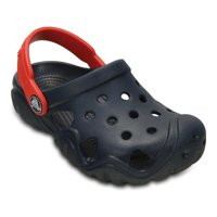 1494ecf374ced Product Image Crocs Kids Swiftwater Clog Navy   Flame Clogs - 9M