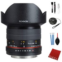 Rokinon 14mm f/2.8 IF ED UMC Lens For Pentax K with Pro Cleaning Kit