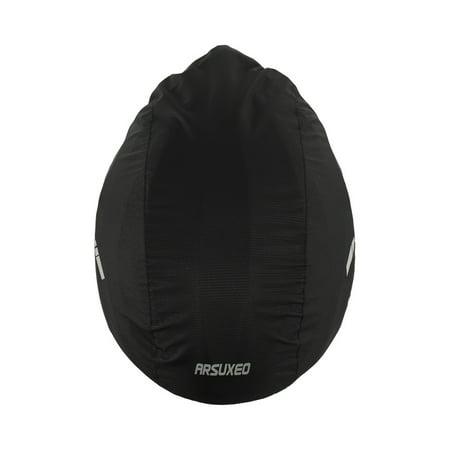 Reflective Bike Helmet Cover Waterproof Windproof Bicycle Helmet Rain Cover FG