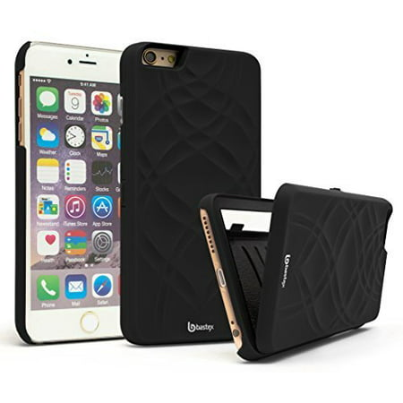 purchase cheap e6663 279cf iPhone 6 Plus Case, Bastex Hidden Back Wallet Mirror Case with Stand  Feature and Card Holder for Apple iPhone 6 Plus, 6S Plus 5.5