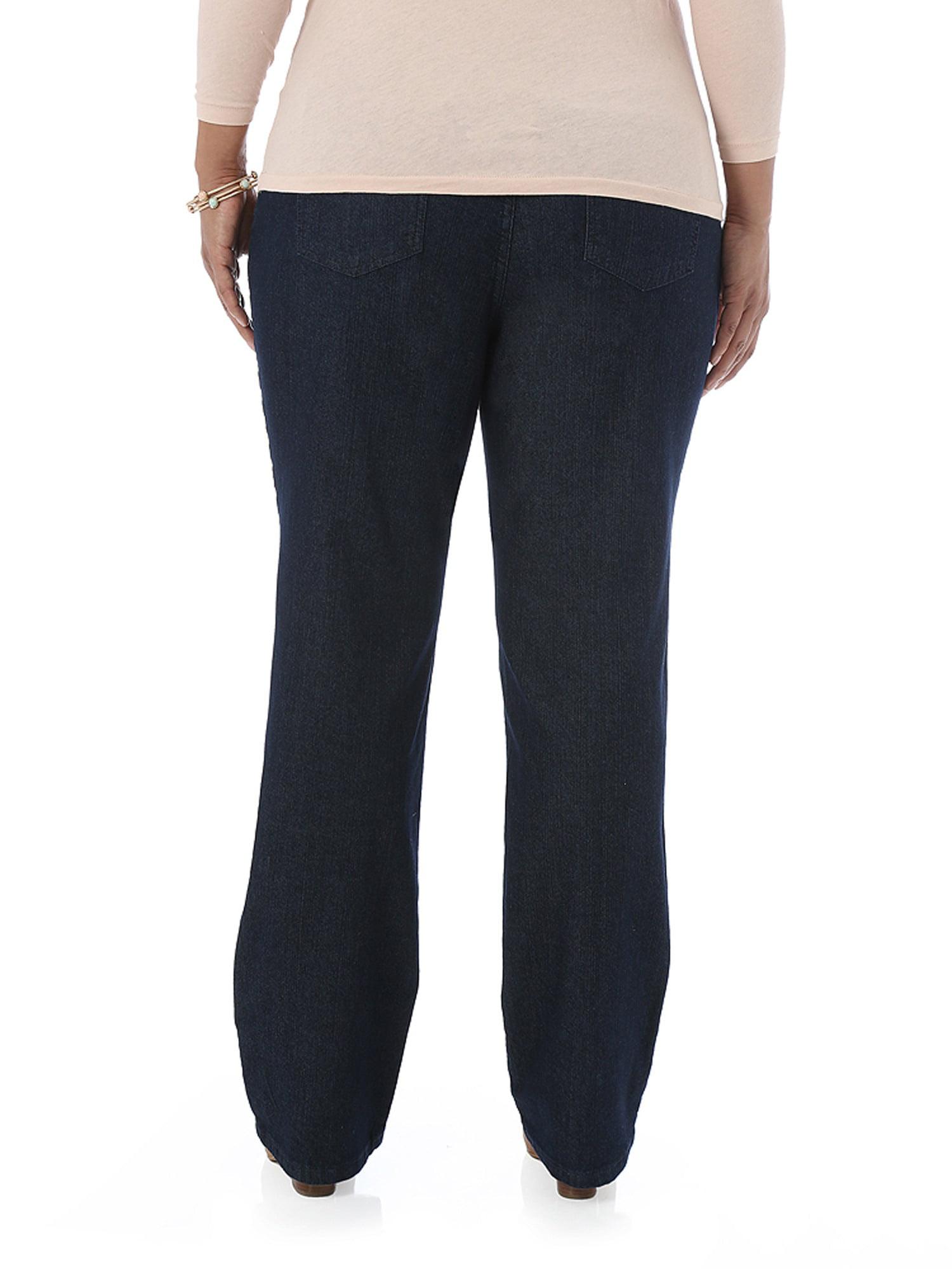 34a3fd0b Riders by Lee - Women's Plus-Size Simply Comfort Waist Straight Leg Jeans -  Walmart.com