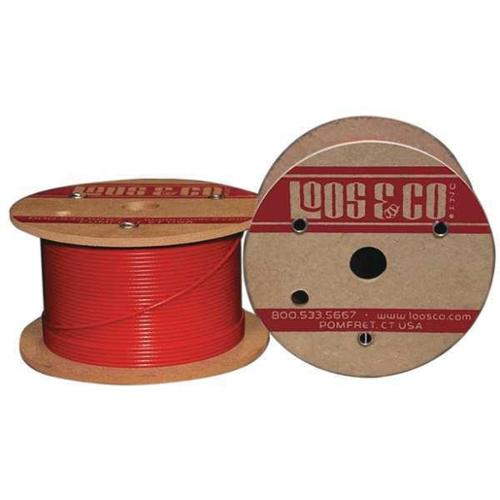 LOOS SC18879M1NR Cable,100 ft.,Red Nylon,3/16 in.,740 lb. G2408570