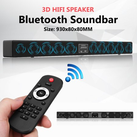 10 Horn HIFI 3D Surround CLSS-D TV Subwoofer Speaker Wireless bluetooth Soundbar Box Lautsprecher Super Bass Home Theater System TF card/U-disk DSP For TV PC Desktop Laptop Tablet ()