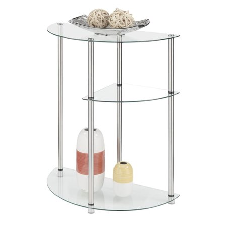 Kingfisher Lane 3 Tier Glass Display Accent Table