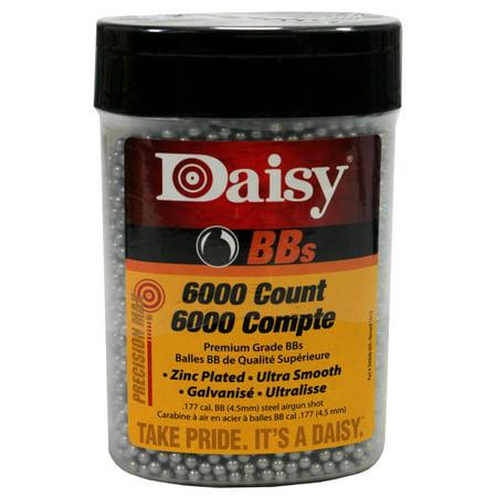 DAISY PRECISIONMAX BBS .177 BB ZINC-PLATED STEEL 6000CT ()