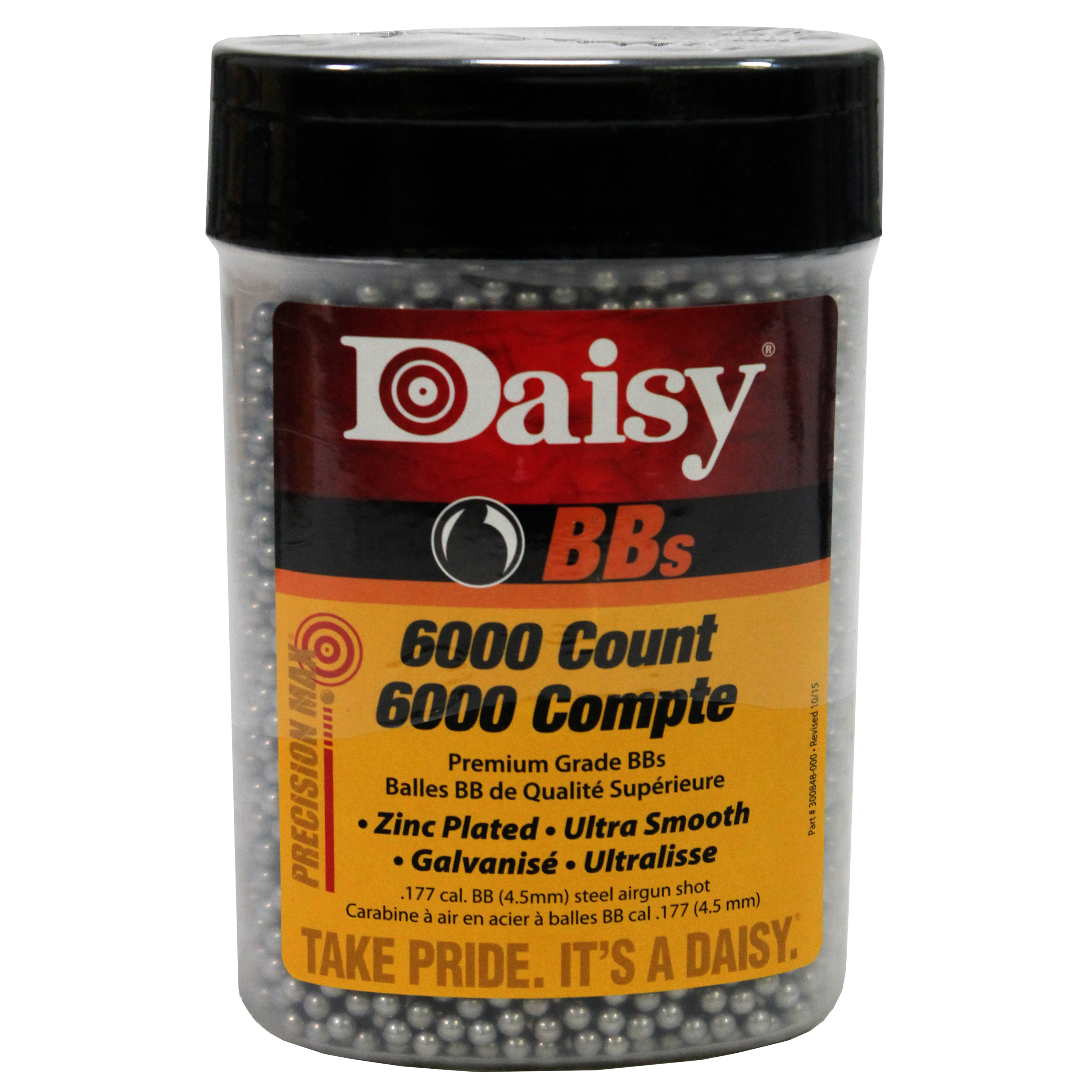 DAISY PRECISIONMAX BBS .177 BB ZINC-PLATED STEEL 00