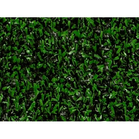 Indoor/Outdoor Holly Leaf Green and Black Artificial Grass Turf Area Rug 9