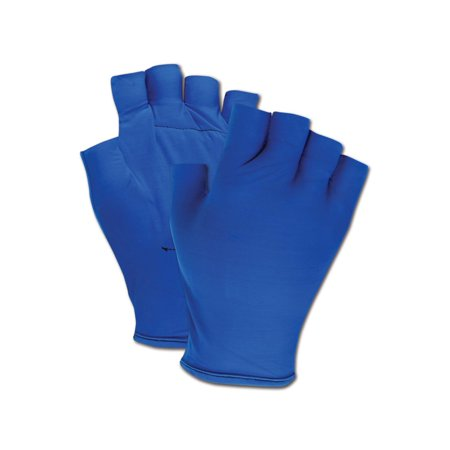 Magid Fingerless Gel Palm Padded Impact Gloves Small, Pair ()