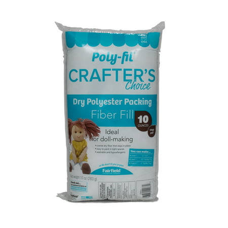 Poly-fil Crafter's Choice Polyester Fiber Fill - 10 (Fairfield 10 Pound Poly Fil Premium Polyester Fiber)
