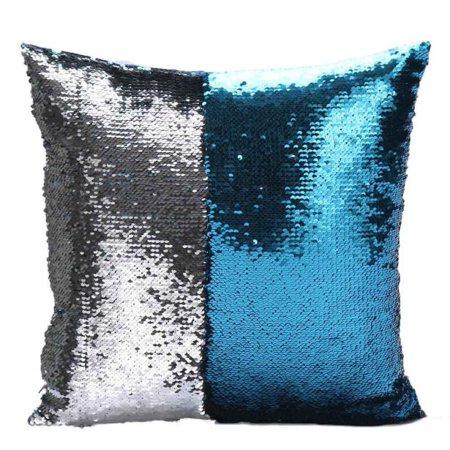 Iuhan DIY Two Tone Glitter Sequins Throw Pillows Decorative Cushion Covers F - Halloween Pillows Diy