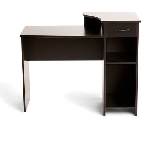 Mainstays Student Desk with Easy-glide Drawer, Blackwood -