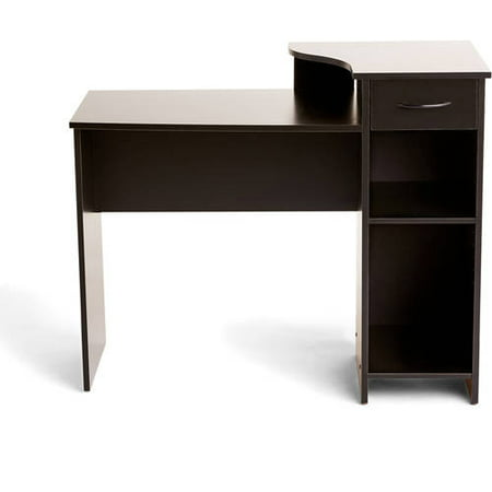 Mainstays Student Desk with Easy-glide Drawer, Blackwood