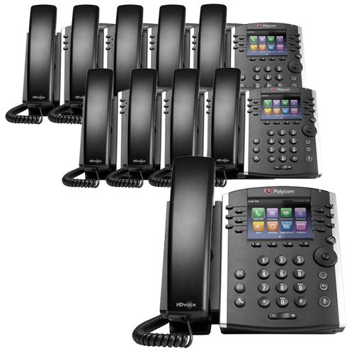 Polycom VVX 410 (10-Pack) VVX 410 Business Media Phone by Polycom