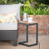 Castleton Outdoor Antique Finish Firwood C Shaped Table
