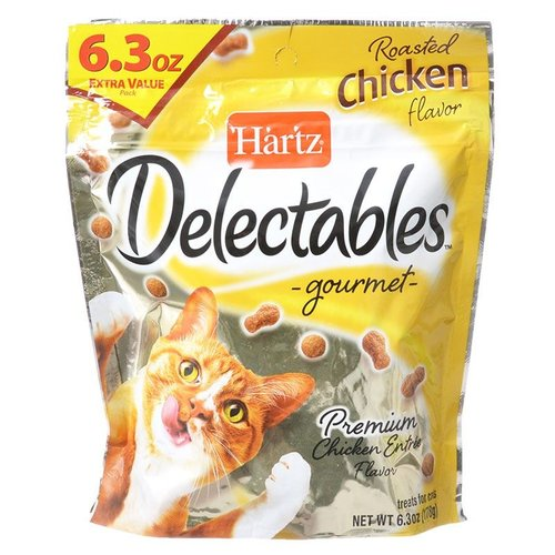 Hartz Delectables Gourmet Cat Treats - Roasted Chicken Flavor 6.3 Ounce