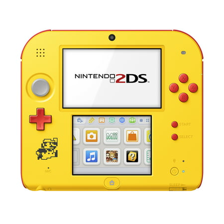 Nintendo 2DS System with Super Mario Maker (Pre-Installed), Yellow / Red,