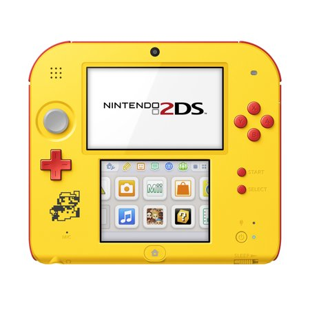 Nintendo 2DS System with Super Mario Maker (Pre-Installed), Yellow / Red, FTRSYBDW ()