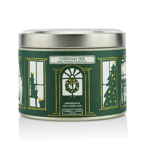 The Candle Company Tin Can Candle   Beeswax  Christmas Tree  8X5  Cm