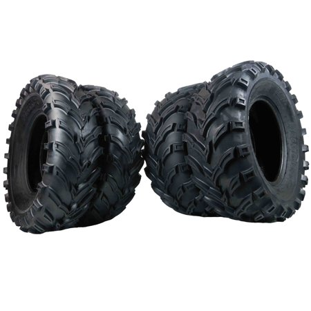 MASSFX 25x8-12 TWO FRONT 25x10-12 TWO REAR ATV TIRE SET 6 PLY 25x8x12 25x10x12