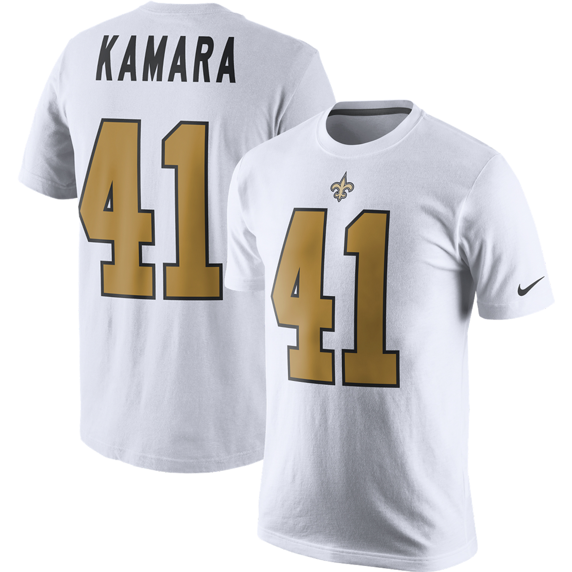 official photos 9598f d5251 Alvin Kamara New Orleans Saints Nike Color Rush 2.0 Name & Number T-Shirt -  White