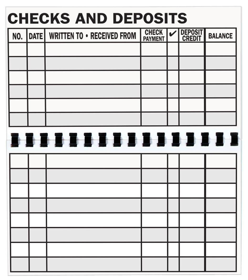 Large Print Check Register, Oversized rows and columns outlined in bold;Easy to read type;Register has 56... by