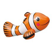 """Blue Wave Clown Fish 67"""" Inflatable Ride-On Pool Toy"""
