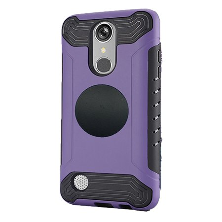 Slim Track - For LG Rebel 3 (Tracfone) Phone, Slim Armor Cover Case + Screen Protector + Universal Air Vent Car Mount Phone Holder (Purple)