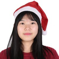 Red White Block Color Santa Claus Christmas Soft Hat