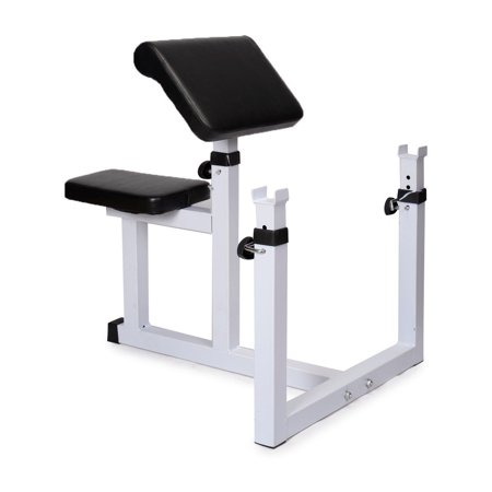 Costway Commercial Preacher Curl Weight Bench Seated Preacher Isolated Dumbbell Biceps