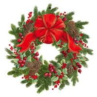 Christmas Gift Tags 4pk Evergreen Wreath