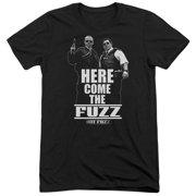 Hot Fuzz Here Come The Fuzz Mens Tri-Blend Short Sleeve Shirt