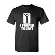I POOPED TODAY! funny joke gag gift - Mens Cotton T-Shirt