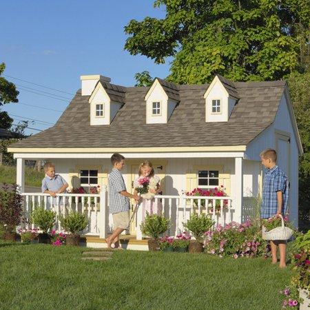 Cottage House Floorplans - Little Cottage Pennfield Cottage 11 x 10 ft. Wood Playhouse