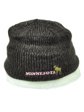 Product Image Minnesota State USA Moose Cuffless Knit Beanie Fuax Fur Womens  Winter City Town. American Crown f21b636f1b31