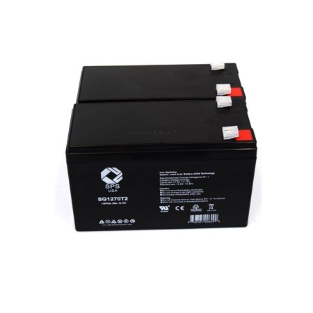 SPS Brand 12V 7 Ah Replacement Battery  for APC RBC123 UPS (2 (Microtek Ups Battery 12v 7-2 Ah Price)