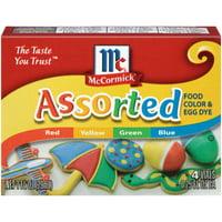 (2 Pack) McCormick Assorted Food Color & Egg Dye, 1 fl oz