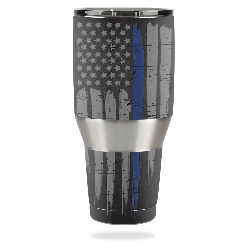 MightySkins Protective Vinyl Skin Decal for Ozark Trail 40 oz Tumbler wrap cover sticker skins Thin Blue Line