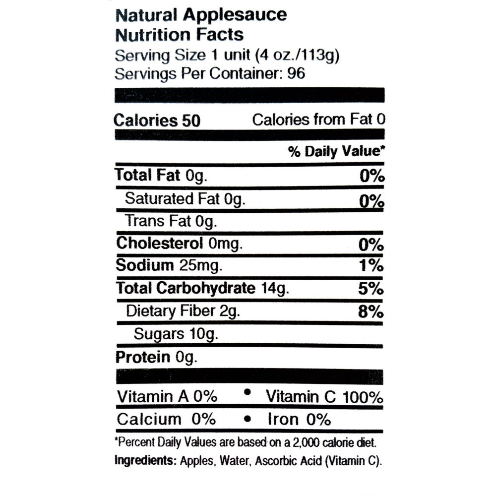 Branded Indian Summer FruitMates Unsweetened Natural Applesauce (4 oz. ea., 36 ct.) - Sugar Free [Qty Discount / Wholesale Price]