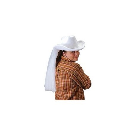 Western Bride's Hat Party Accessory (1 count) (1/Pkg)