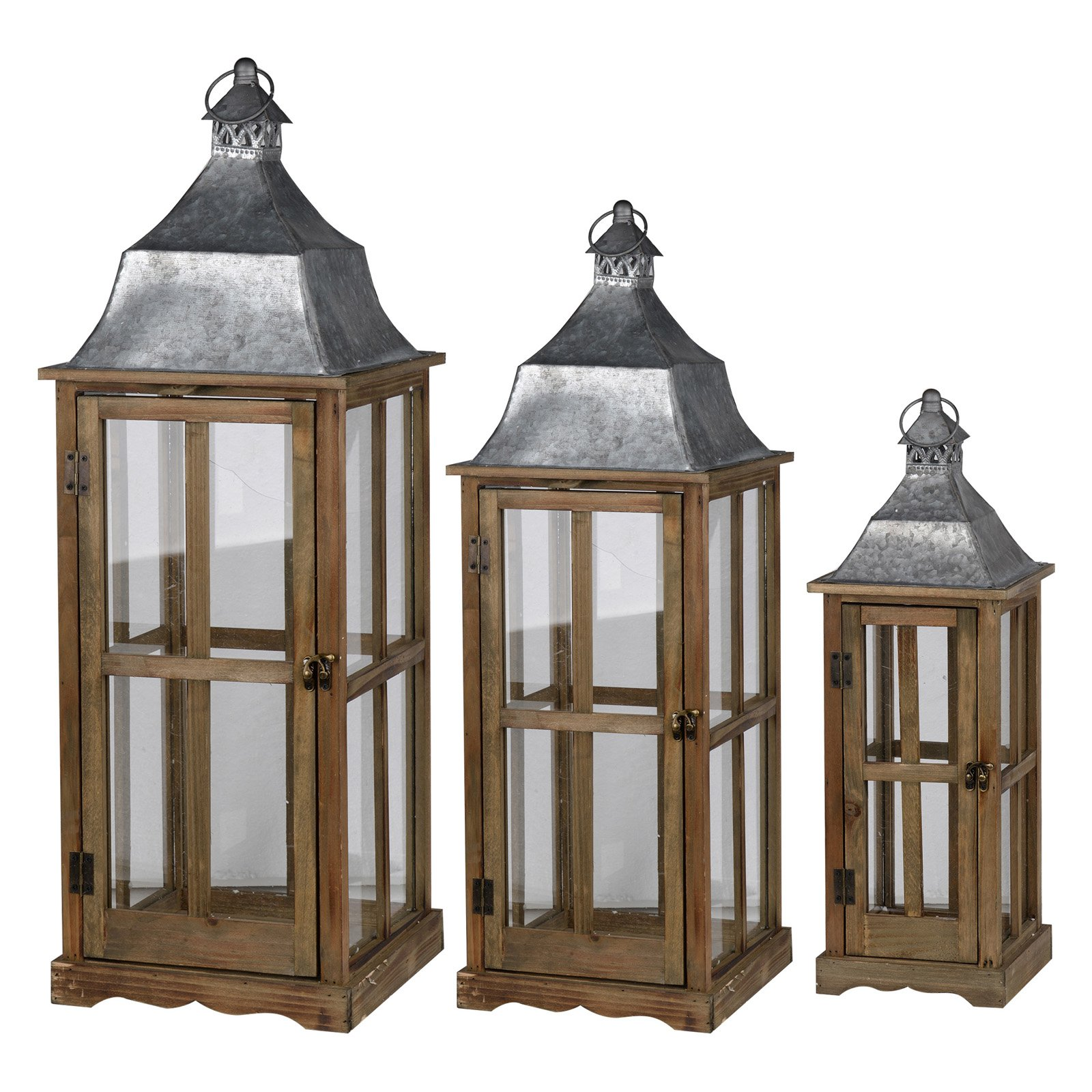 A and B Home Window Scape Indoor Lanterns - Set of 3
