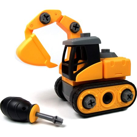 WisToyz Take Apart Toys, Toy Vehicles, Assembly Toy Excavator with Constructions Set, Building Vehicle Play Set with Screwdriver, Ideal Educational Toy for Toddlers, Boys & Girls Aged 3, 4, 5, - Boy Toys Age 1