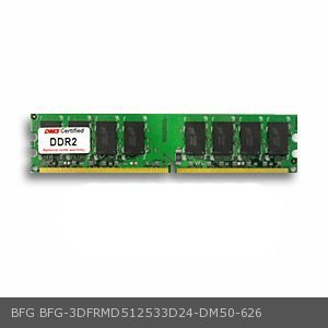- BFG 3DFRMD512533D24 equivalent 512MB DMS Certified Memory DDR2-533 (PC2-4200) 64x64 CL4  1.8v 240 Pin DIMM - DMS