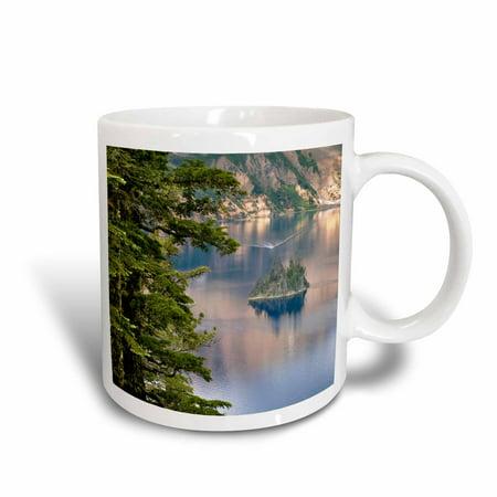 3dRose Oregon, Crater Lake NP. Phantom Ship - US38 RER0208 - Ric Ergenbright, Ceramic Mug, 15-ounce