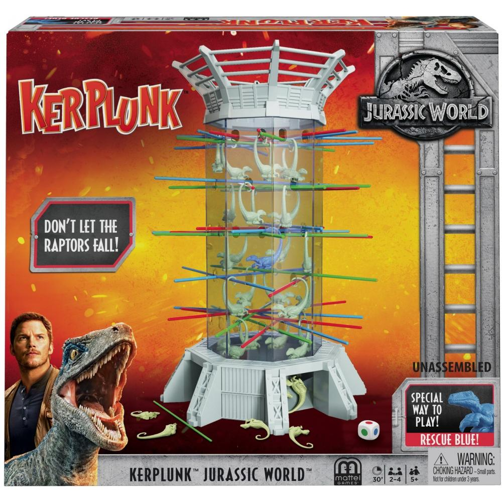 Kerplunk Raptors Jurassic World Kids Interactive Game Mattel