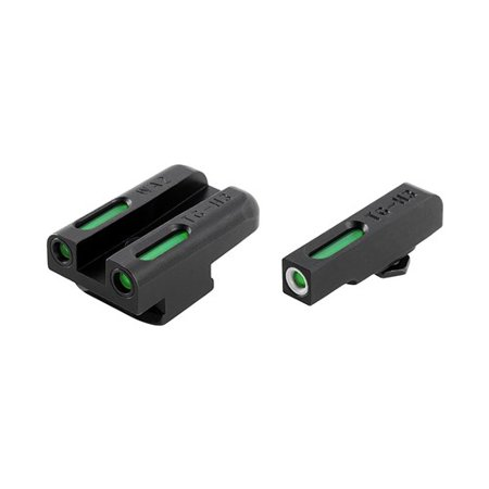 TRUGLO TFX DAY/NIGHT SIGHTS 1911 PISTOL TRITIUM/FIBER OPTIC GREEN W/WHITE OUTLINE FRONT GREEN REAR