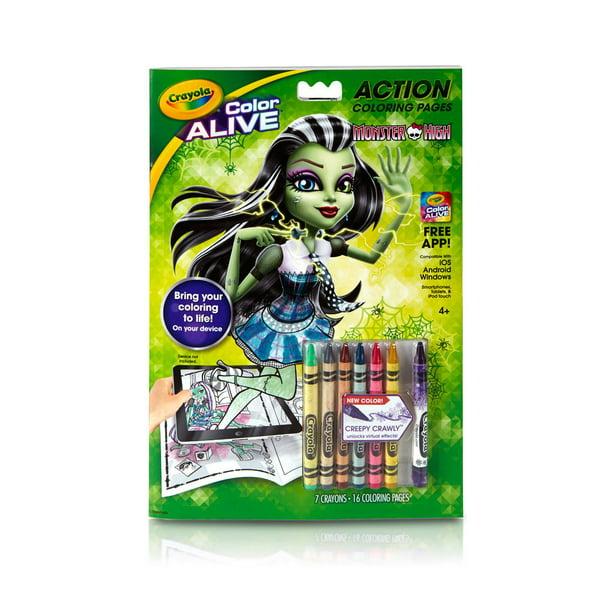 Crayola Virtual Design Pro Monster High Coloring Book Coloring Kit 4 Walmart Com Walmart Com